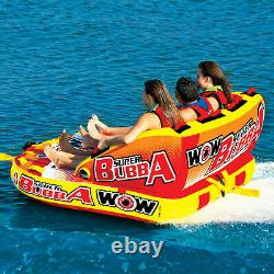 Wow Super Bubba Inflatable Deck Seating Towable Water Floating Tube (Open Box)