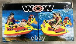 Wow Water Ducky 2 Seater Inflatable Towable Tube 20-1170