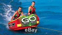 Wow Watersports 18-1040 Go Bot Towable Tube Float Raft Water Ski Boat 2 Person