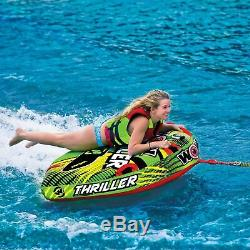 Wow Watersports Thriller Deck Tube Water Towable Tube Inflatable Boat Tube, W
