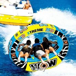 XO extreme 3 persons tube inflatable towable lounge water-ski WOW brand 12-1030