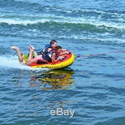1-2 Personnes Grand Gonflable Tractable Ski Nautique Bateau Tube Sport Tube Float Raft