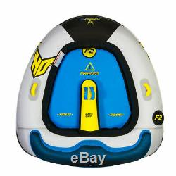 2 Personne Bateau Tubes Innertube Raft Pull Beind Formule 2 Tractable Eau Sport