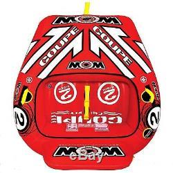 2 Personne Coupe Cockpit Bateau Towable Tube Eau Tuyau Piscine Gonflable Lac Sport
