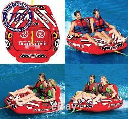 2 Personne Coupe Cockpit Tractable Tuyau Eau Gonflable Piscine D'eau Du Lac Sport