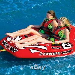2 Personne Coupe Gonflable Cockpit Tractable Tubing Piscine D'eau Du Lac Sports Nautiques