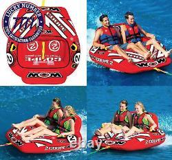 2 Personnes Coupe Cockpit Tuyau D'eau Remorqué Piscine Gonflable Lac Sports D'eau