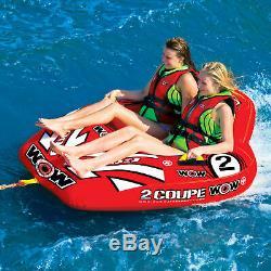 2 Personnes Gonflables De Sports Aquatiques De Lac De Piscine De Tuyauterie Remorquable De Tuyau D'eau De Cockpit De Personne