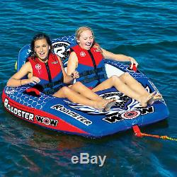 2 Personnes Lac Mer Piscine Tube Tractable Extérieur Eau Été Sport Rider