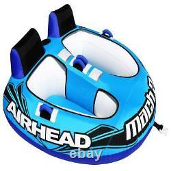 2-rider Gonflable Tube De Remorquage Float Water Sports Bateau De Ski Summer Beach Lake