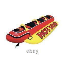 3 Airhead Personne Hot Dog Gonflable Tractable Tube Flotteur Raft Ski Nautique Flottant Bateau