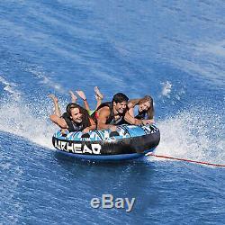 3 Personne Gonflable Tractable Pont Tube Eau Bateau Rider Raft Flotteur Airhead Lac