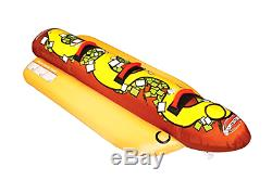3 Sportsstuff Hot Dog Gonflable Tractable Personne Bâteau Tube 3060 Hd Lac 53