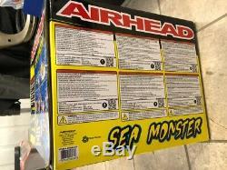 Airhead 4 Personnes Mer Monstre Tractable Eau Tube Kwik Connect Système De Remorquage Nouveau