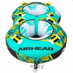 Airhead Ahbl-22 Blast 2 Tube Gonflable D'eau Remorquable Pour 2 Personnes, Vert Tropical