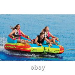 Airhead Ahch-03 Challenger Inflatable Towable Water Tube 3 Person Boat Toy