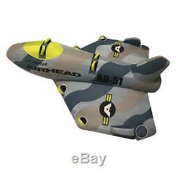Airhead Ahfj-14 Jet Fighter Gonflable Tractable Tube 1-4 Riders Eau Bateau Jouet