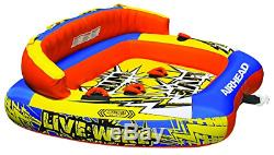 Airhead Ahlw-3 Live Wire 3 Gonflable 1-3 Rider Bateau Tractable Lake Water Tube