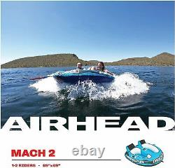 Airhead Ahm2-2 Mach 2 Gonflable 2 Rider Cockpit Lake Boating Water Towable Tube