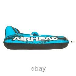 Airhead Ahm2-2 Mach 2 Gonflable 2 Tube De Remorquage D'eau Du Lac Rider Cockpit, Bleu