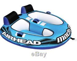 Airhead Ahm2-2 Tube Remorquable Gonflable De L'eau De Lac De Cockpit De Coureur 2 De Mach 2, Bleu