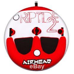 Airhead Ahrt-12 Riptide 2 Eau Pour Bateaux Tube 2 Riders Gonflable Tractable