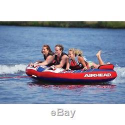 Airhead Ahsh-3 Shockwave 3 Eau Pour Bateaux Tube Gonflable 3 Riders Tractable Marine