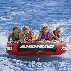 Airhead Ahssl-42 Mega Tranche Eau Bateau Tube Gonflable 4 Riders Tractable