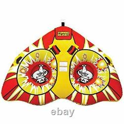 Airhead Ahtb-12 Turbo Explosion Gonflable Double Rider Tractable Lac Bâteau Tube