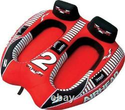 Airhead Ahvi-f2 Viper 2 Double Rider Cockpit Inflatable Towable Lake Water Tube