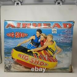 Airhead Big Shot 72 Quadruple 1-4 Rider Boat Lake Water Towable Open Top Tube