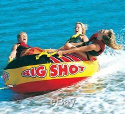 Airhead Big Shot Rider Quadruple Lac Bâteau Tractable Open Top Tube (2 Pack)