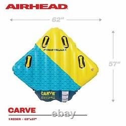 Airhead Carve Steerable 1 Person Inflatable Boat Towable Water Inner Tube Raft