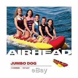 Airhead Gonflable Hot Dog Towable Tube 1 5 Rider Heavy Duty Extérieur Eau Hd 5