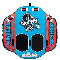 Airhead Griffin II Gonflable Coussin D'air Pour 2 Personnes Towable Tube Eau Tour