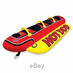 Airhead Hd-3 Gonflable Hot Dog Tractable Tube De Ski Nautique Bateau De Banane Ski Nautique Nouveau