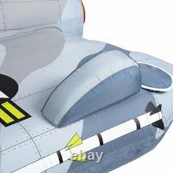 Airhead Jet Fighter 4 Personne Bateau Gonflable Towable Water Tube Raft (pour Les Pièces)