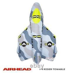 Airhead Jet Fighter Avion 1-4 Personne Gonflable Bateau De Remorquage Tube D'eau Raft