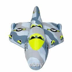Airhead Jet Fighter Avion Radeau À Tube D'eau Remorqué Gonflable De 4 Personnes (utilisé)