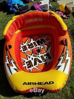 Airhead Live Wire 2 Gonflable 1-2 Rider Bateau Tractable D'eau Du Lac Doccasion