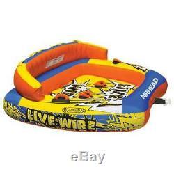 Airhead Live Wire 3 Gonflable 1-3 Rider Bateau Tube Tractable D'eau Du Lac (open Box)