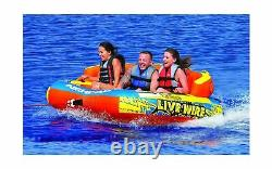 Airhead Live Wire Inflatable Towable Tube 3 Personne Outdoor Water Sports Ahlw3