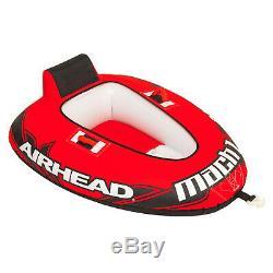 Airhead Mach 1 Ahm1-2 Tractable Gonflable Eau Tube 1 Personne Pvc Bateau Jouet Lac