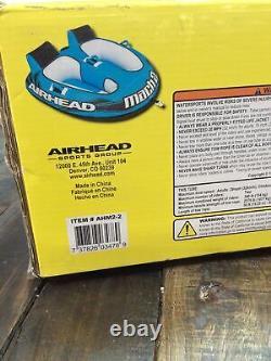 Airhead Mach 2 Gonflable Tube Mobile À Eau De Cockpit De 3 Cockpit De Cockpit, Bleu