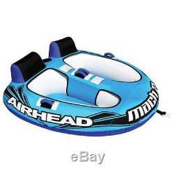 Airhead Mach Rider Gonflable Double Cockpit Tractable D'eau Du Lac Tube (open Box)