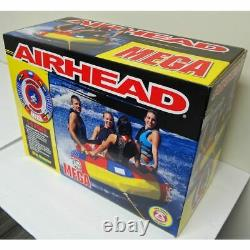 Airhead Mega 4-person Rider Inflatable Boat Towable Tube 76 Water Sportsstuff L
