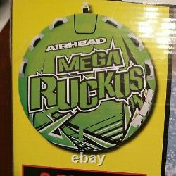 Airhead Mega Ruckus 3-person Rider Gonflable Remorque 70 Deck Tube Flotter Eau