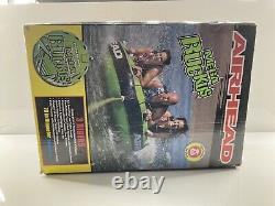 Airhead Mega Ruckus 3-person Rider Inflatable Towable Boat 70 Deck Tube Water S