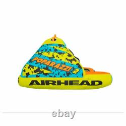 Airhead Poparazzi 2 Personne Gonflable De Poids Lourd Tube D'eau Remorquable En Pvc, Vert