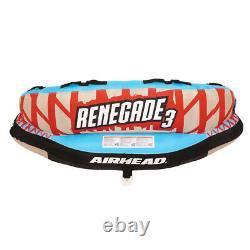 Airhead Renegade 3 Personnes De Tube D'eau De Remorquage Avec Corde De Bateau Et Pompe (boîte Ouverte)